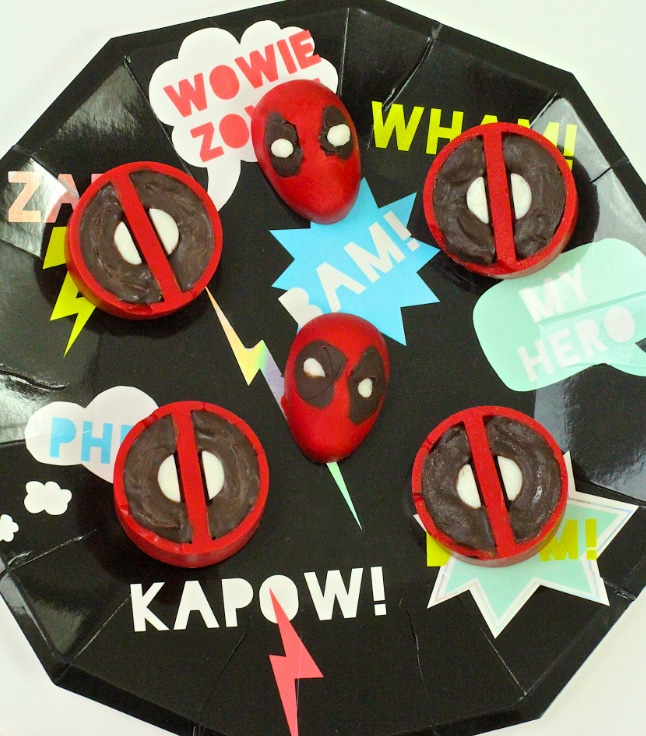 DIY Marvel Deadpool Chocolates
