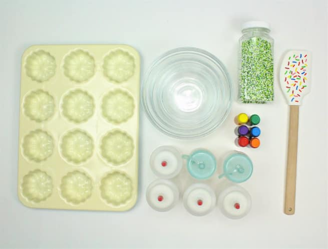 DIY Mini Rainbow Bundt Cakes Ingredients