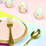 Easter Brunch Decor: Geo & Squiggle Retro Ceramic Easter Eggs!