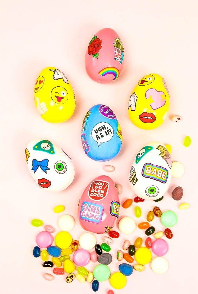 DIY Patchgame Easter Surprise Eggs and Free Printable Patches
