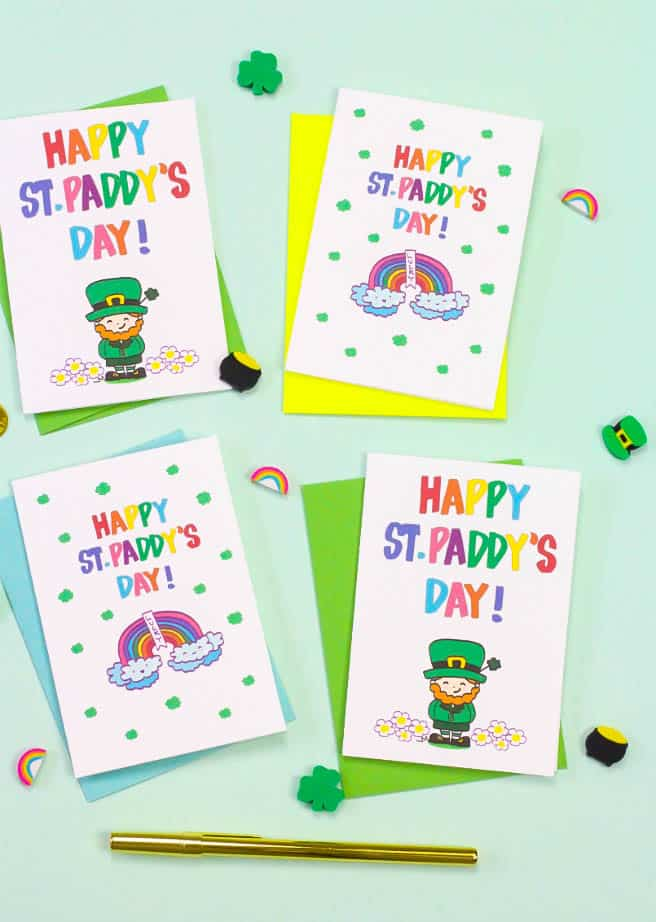 photograph regarding St Patrick's Day Cards Free Printable named No cost Printable Saint Patricks Working day Playing cards! ⋆ Brite and Bubbly