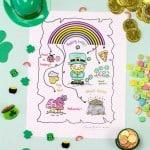 DIY | Free Printable Coloring Saint Patrick's Day Hunt Map!