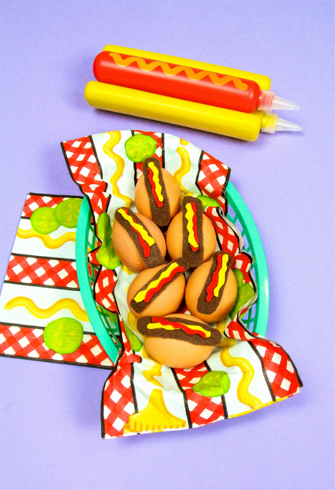 Easy DIY Hotdog Easter Eggs