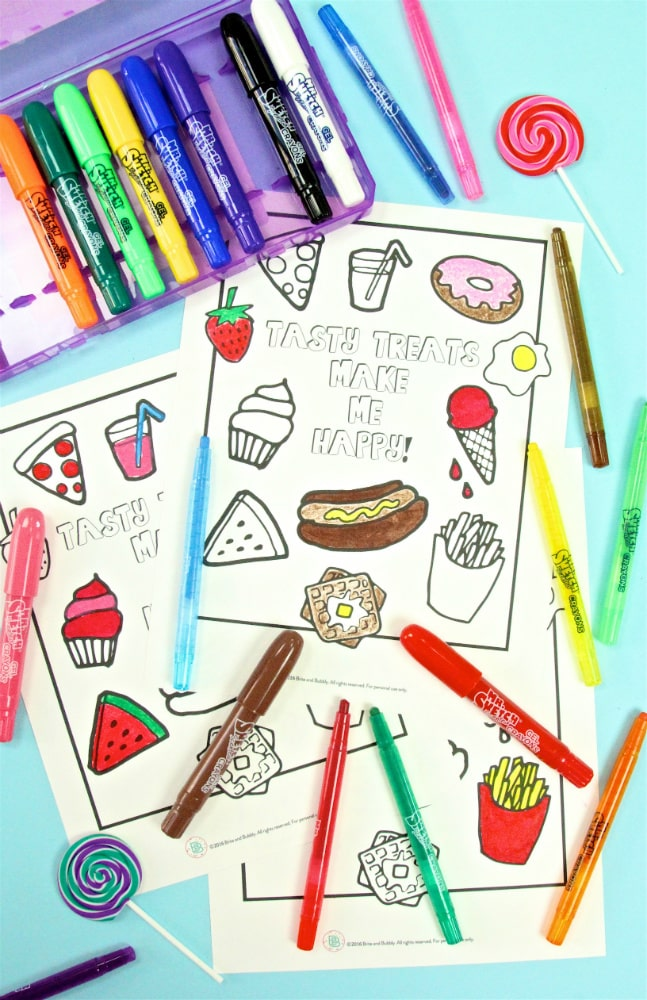 Mr. Sketch Scented Crayons Food Printable