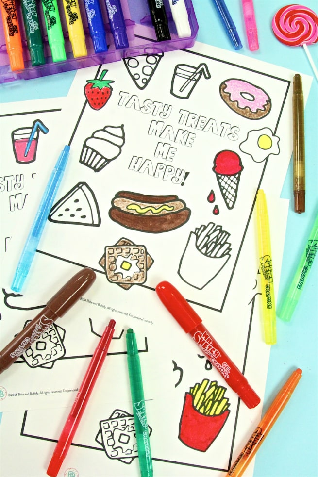 Mr. Sketch Scented Crayons Foodie Free Printable