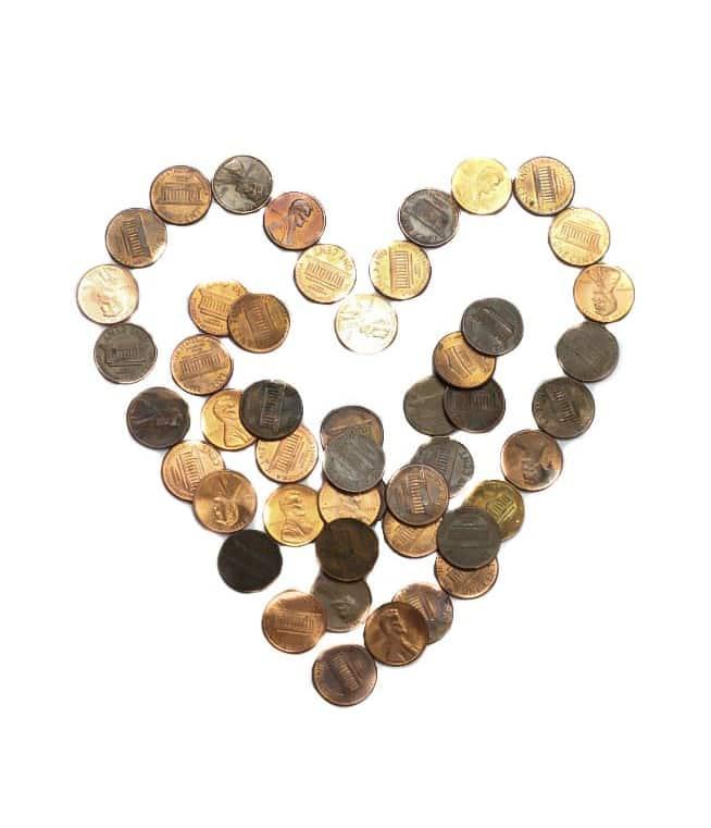 Pennies Heart