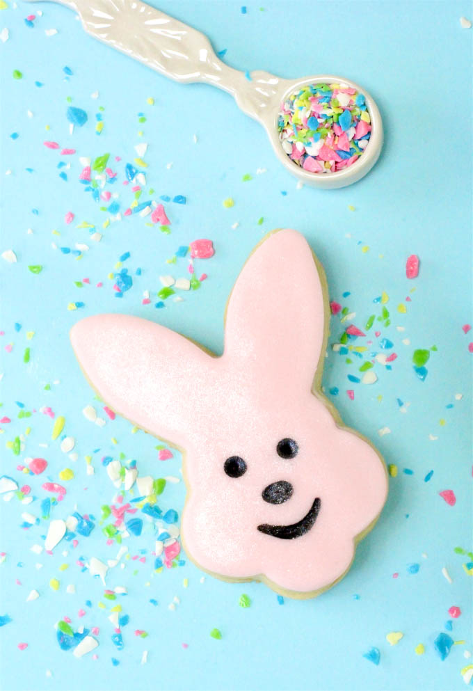 Pink Easter Bunny Piñata Cookies