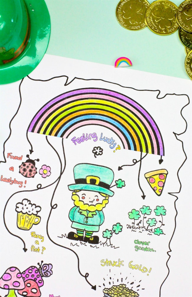 Saint Patricks Day Colored In Printable Map