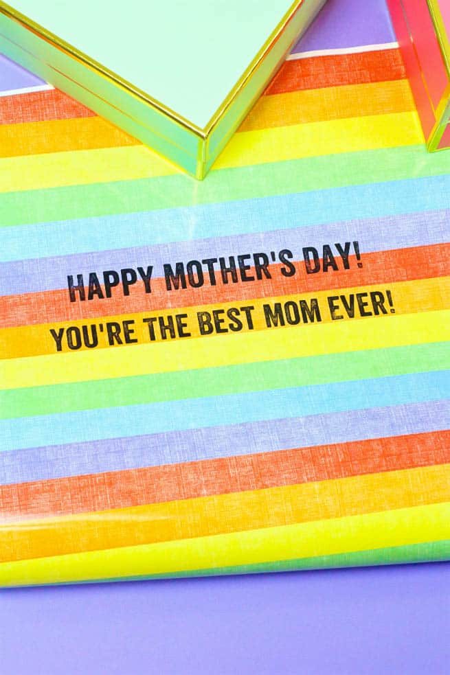 Shutterfly Mother's Day Wrapping Rainbow