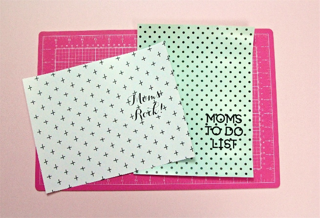 DIY Mother's Day Notebooks and Notepads Printing