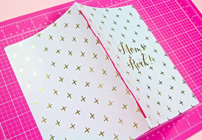 DIY Mother's Day Notebooks and Notepads Step 3