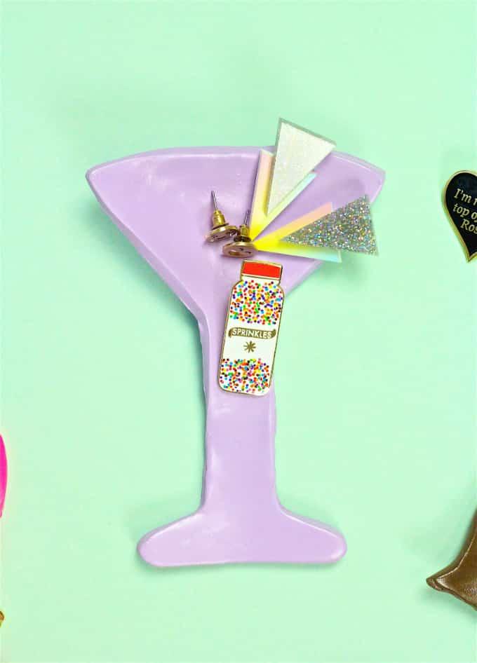 DIY Palm Springs Jewelry Dish martini glass