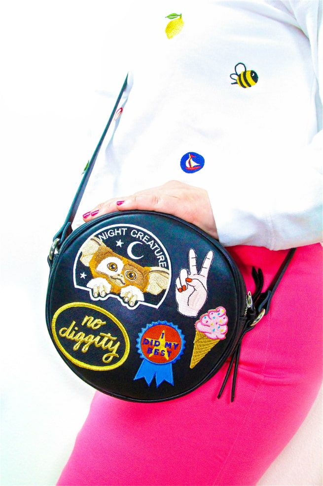 DIY patch covered patchgame purse Accessory