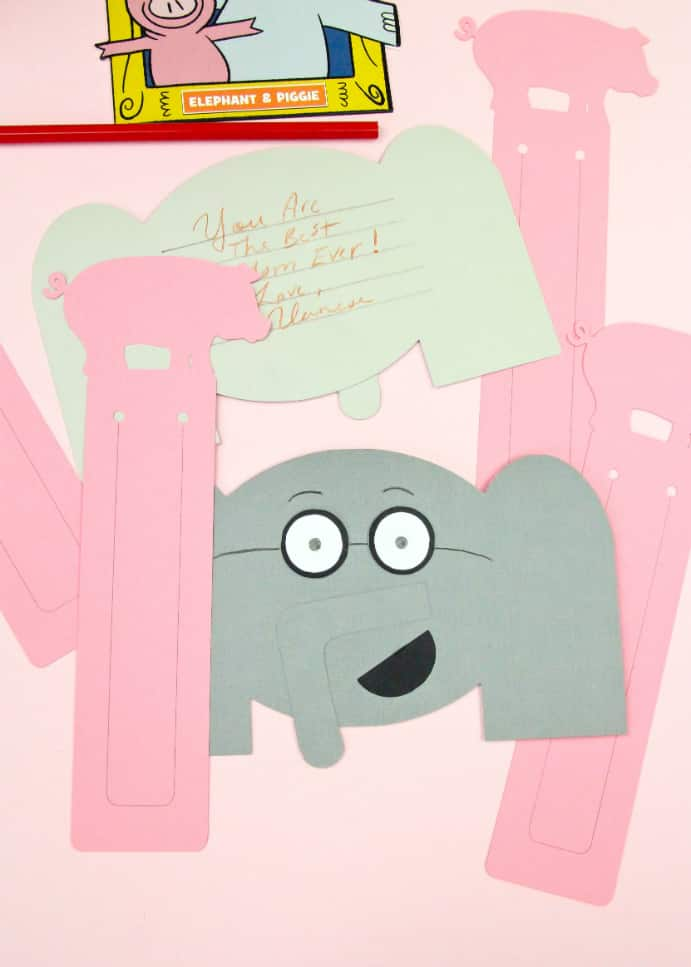 DIY Elephant Thank You Cards & Pig Bookmark