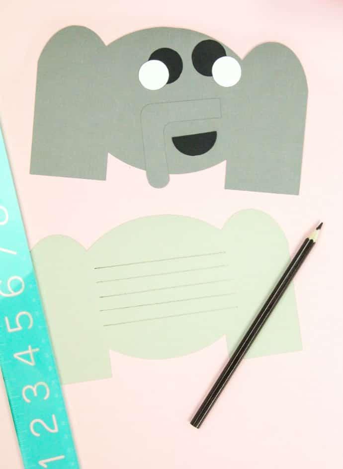 DIY Elephant Thank You Cards & Pig Bookmarks Step 3