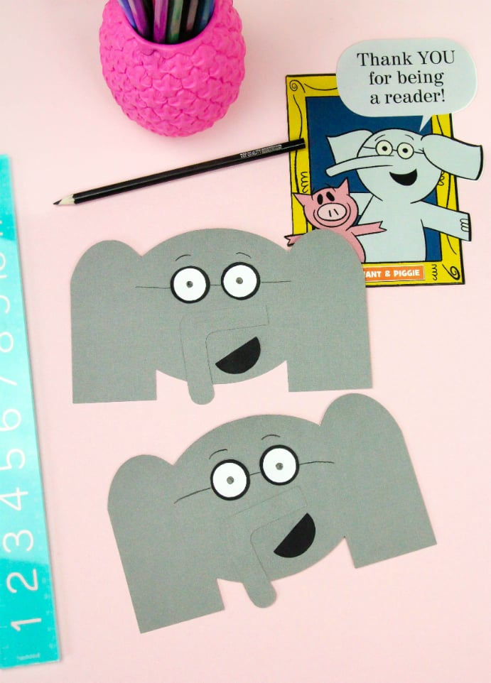 DIY Elephant Thank You Cards & Pig Bookmarks Step 4