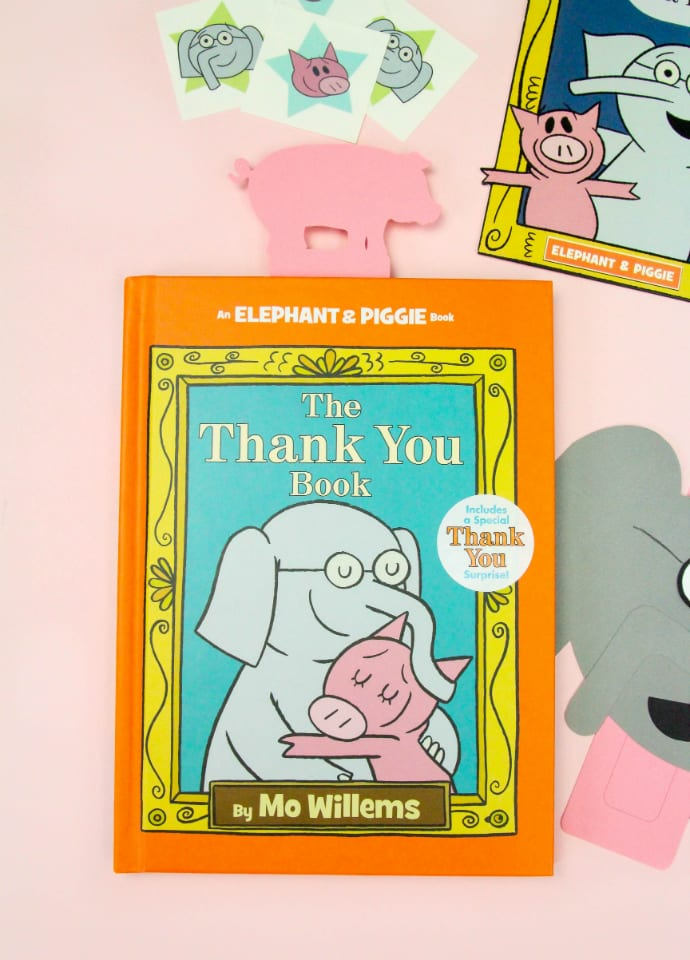 DIY Mo Willems Elephant Thank You Cards & Pig Bookmark