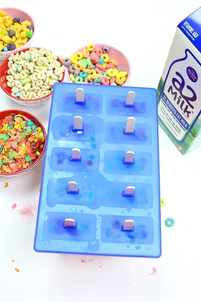 DIY a2 Milk & Cereal Popsicles Step 2