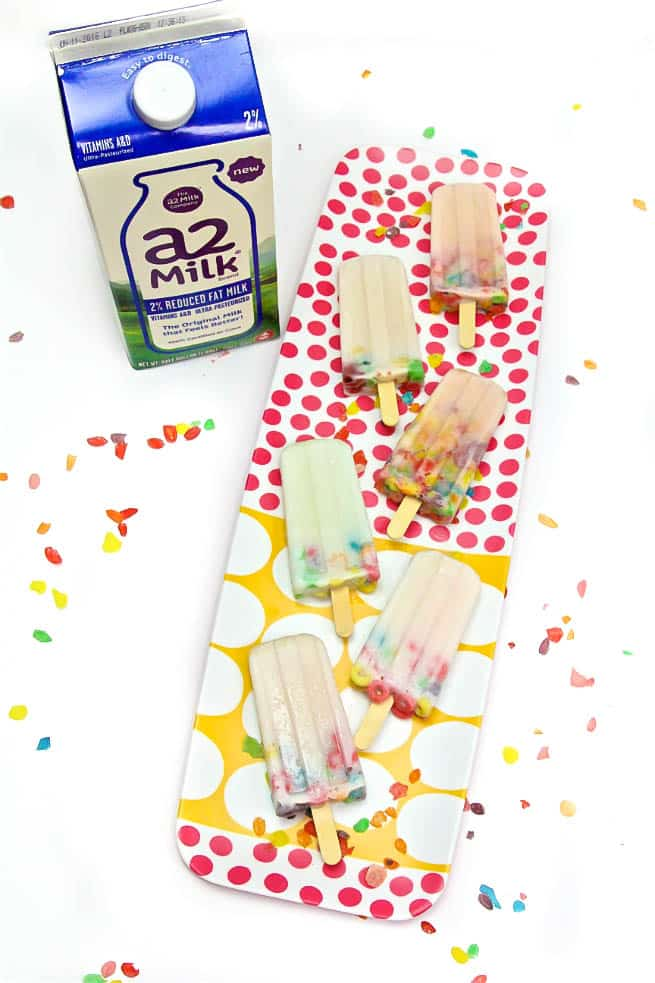 DIY a2 Milk with Popsicles