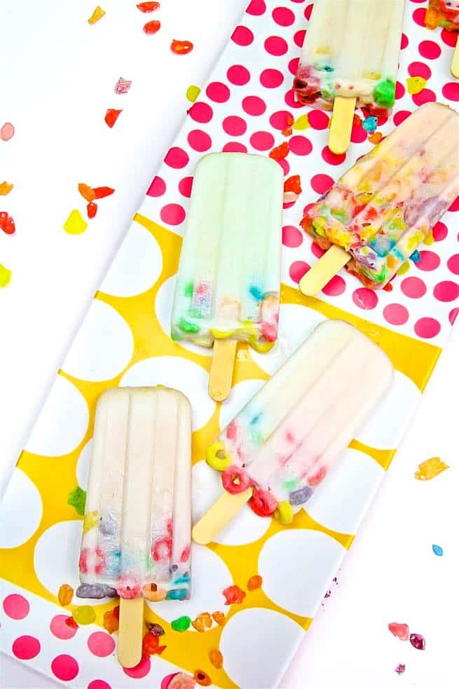 DIY a2 Milk Popsicles Close Up