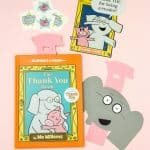 DIY Gerald The Elephant Thank You Cards & Pig Bookmarks + GIVEAWAY!