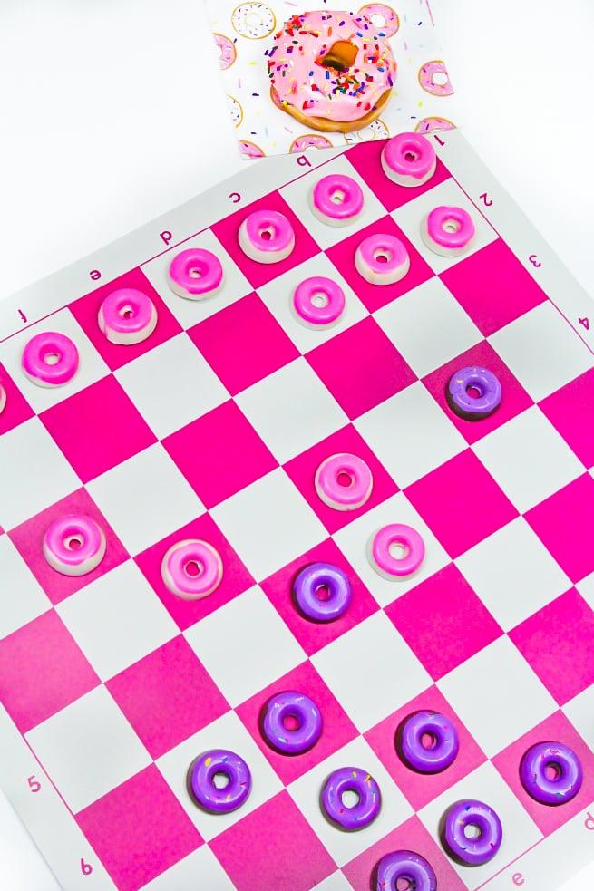 DIY Donut Checkers Board