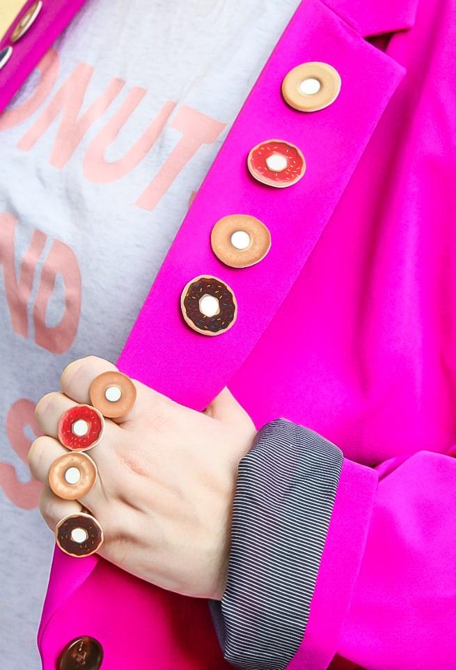 DIY Donut Flair Pins and Rings