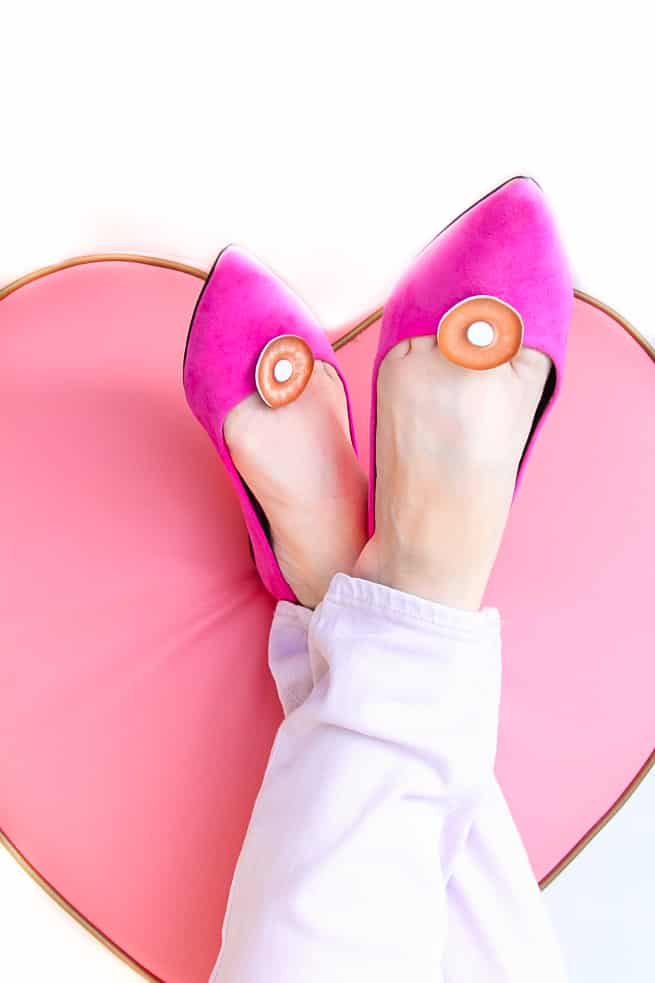 DIY Donut Flair Shoe Clips