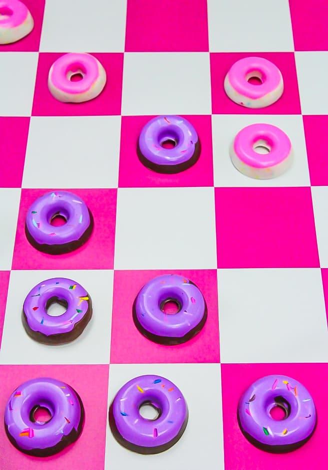 DIY Edible Donut Checker Pieces