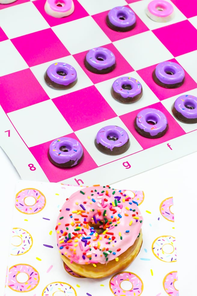 DIY Edible Donut Checkers And Donuts