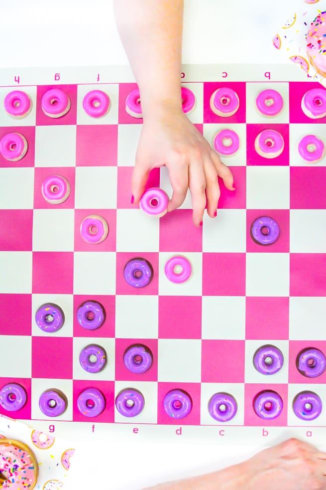 DIY Edible Donut Checkers