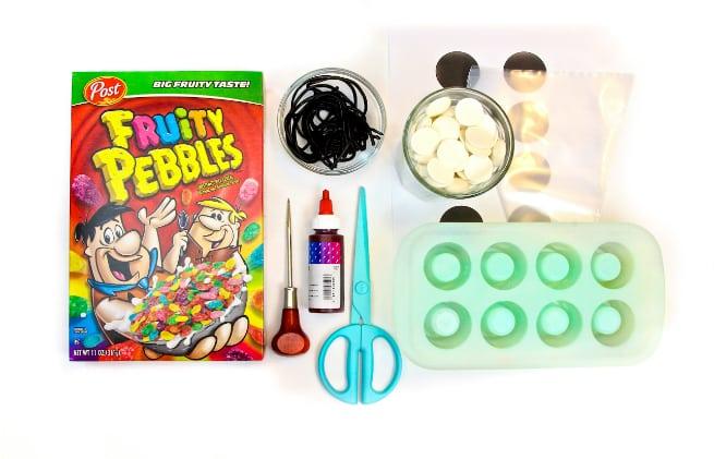 DIY Edible Fruity Pebbles Cereal Firecrackers Supplies