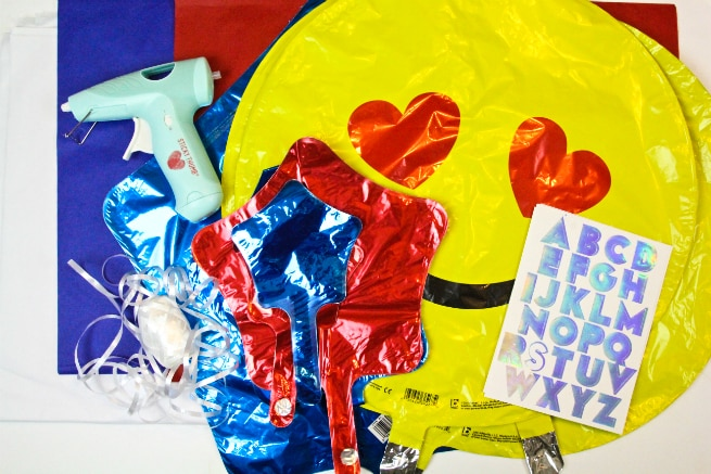 DIY Independence Day Balloons Supplies