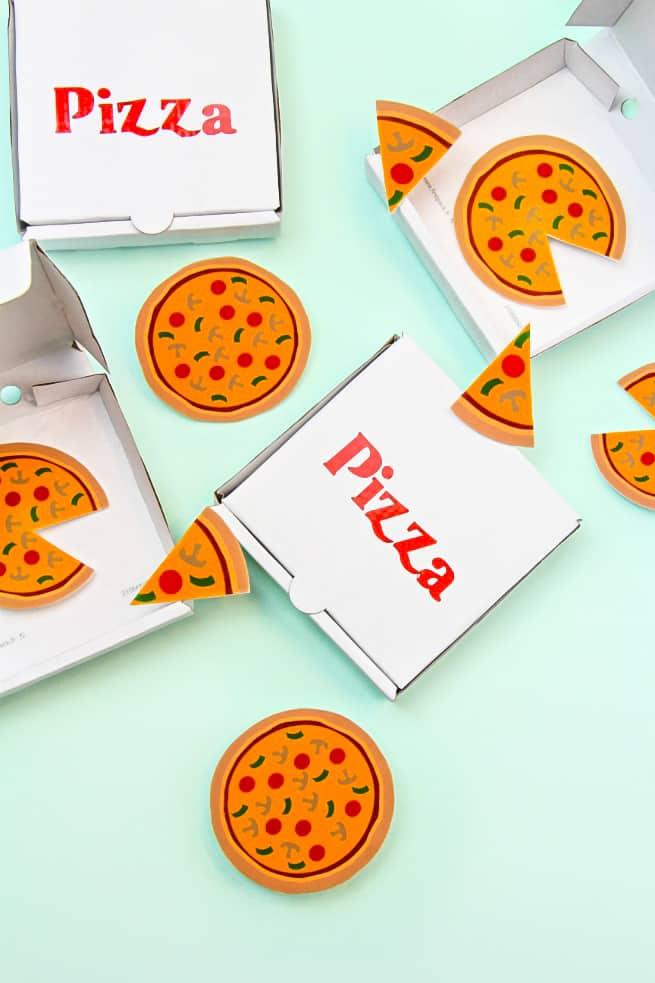 DIY Pizza Brooches & Mini Pizza Boxes