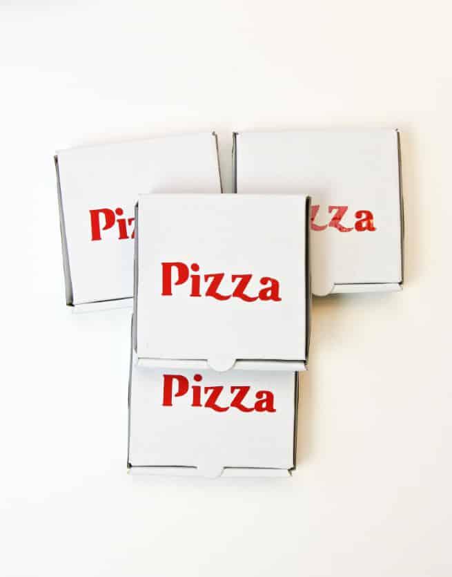 DIY Pizza Mini Pizza Boxes Step 2