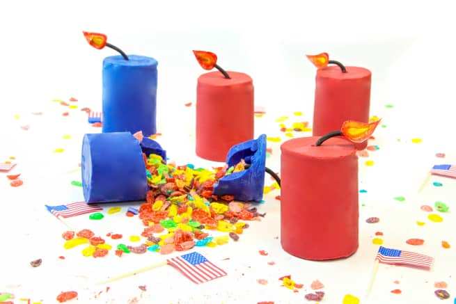 Easy Fruity Pebbles Cereal Firecrackers