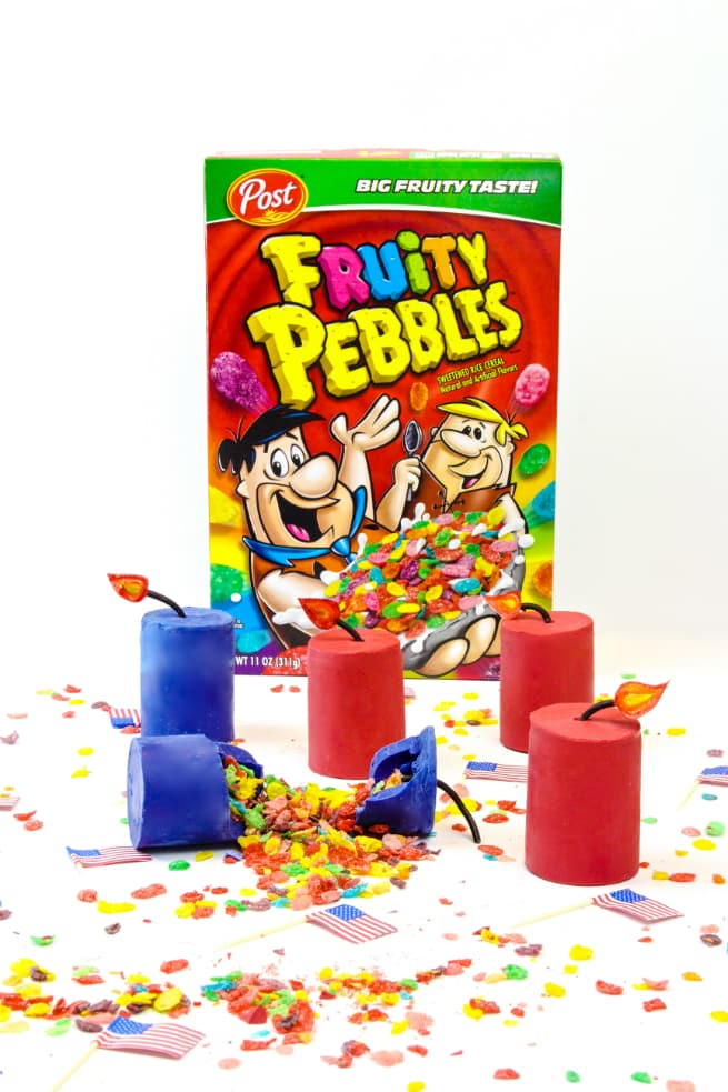 DIY Edible Fruity Pebbles Cereal Firecrackers! ⋆ Brite and ... Bowl Of Fruity Pebbles Calories