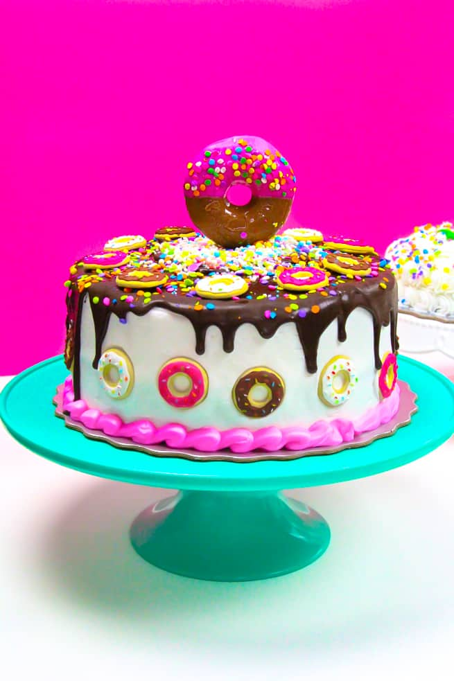 Large Donut Covered Cake