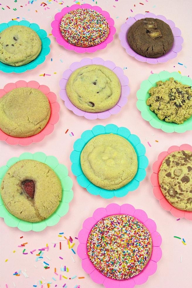 Milk Jar Cookies Selections