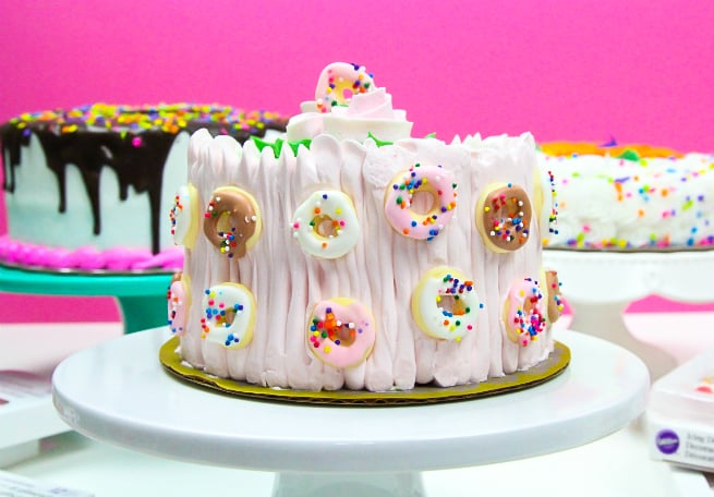 Mini-Donut-Covered Cake