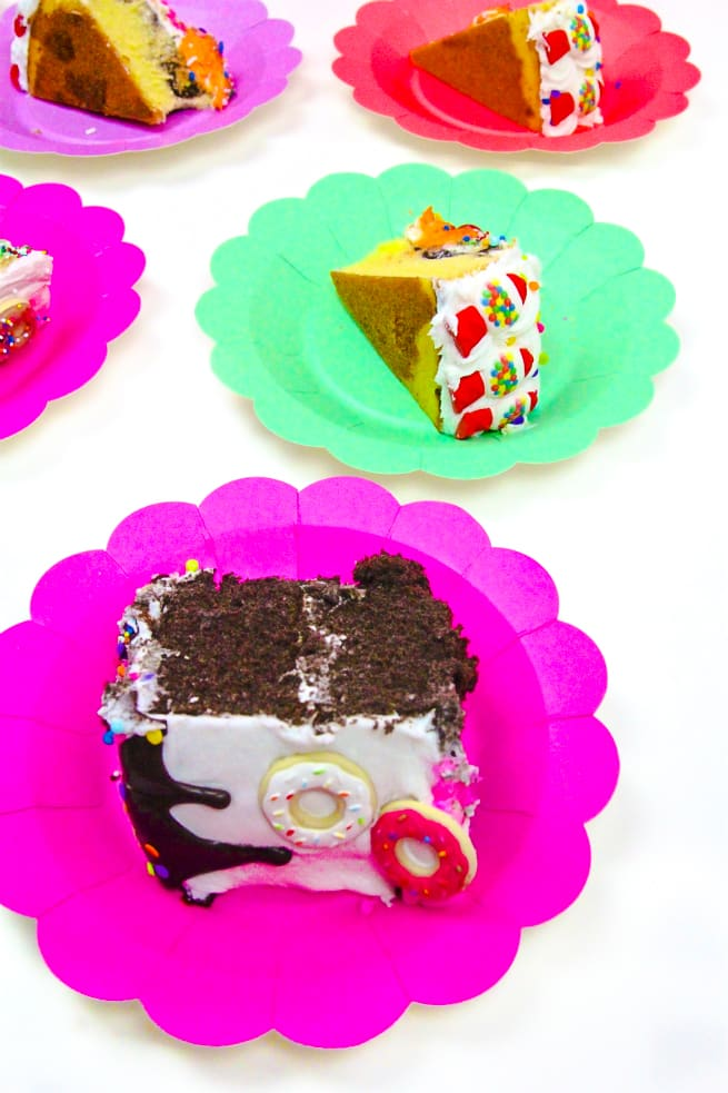 Sliced DIY Tasty treat cakes
