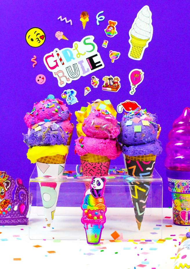90's Retro Print Ice Cream Cone Wrappers