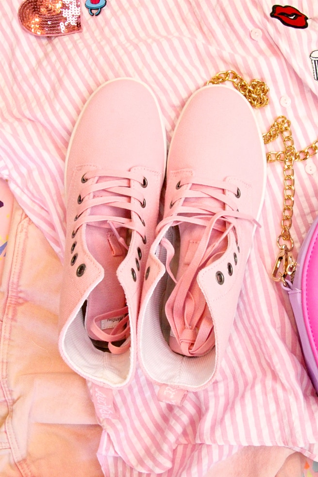 Cooler in Cotton Pink Sneakers