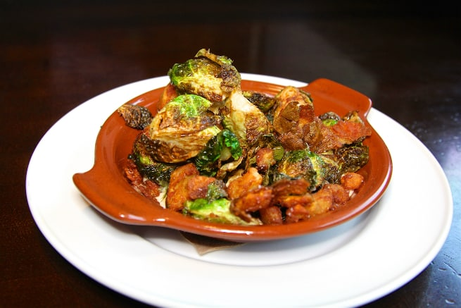 Crispy Brussels Sprouts & Ripped Potatoes 1