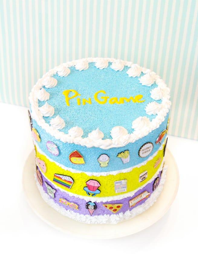 Cute faux-Cake Flair aka #Pingame Organizers