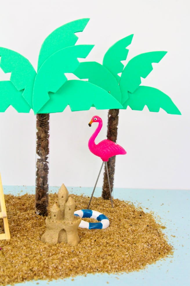 DIY Cocoa Pebbles Palm Tree Party Favors 6