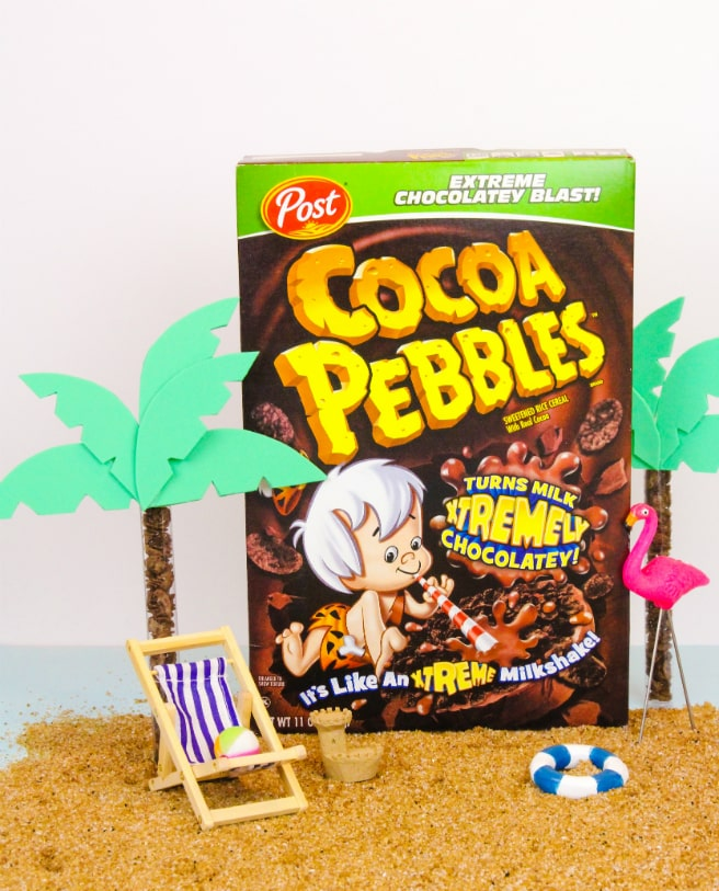 DIY Cocoa Pebbles Palm Tree Party Favors 9