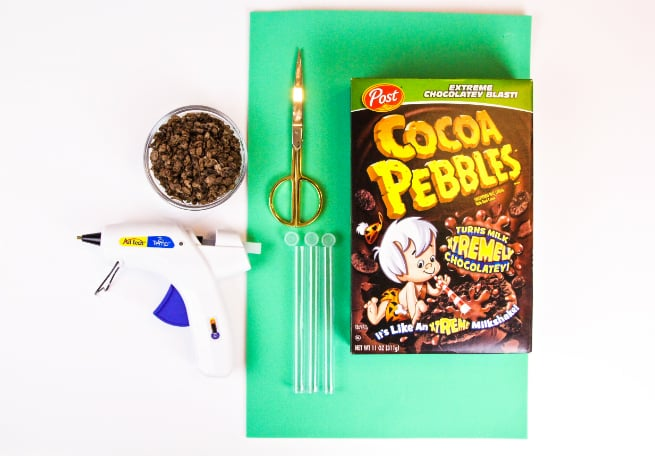 DIY Cocoa Pebbles Palm Tree Party Favors Supplies