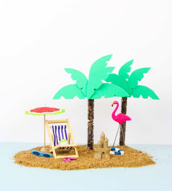DIY Cocoa Pebbles Palm Tree Party Favors