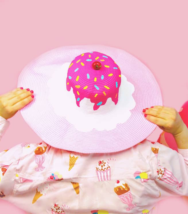 DIY-Ice Cream Beach Hat